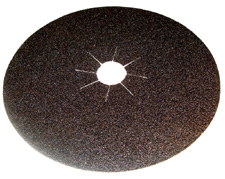 Large diameter floor sanding discs